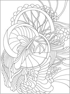 CH Tranquility Colouring Book - Welcome to Dover Publications Abstract Coloring Pages, Pattern Coloring Pages, Free Adult Coloring Pages, Colouring Pages, Free Coloring, Coloring Sheets, Mandala Coloring, Line Patterns, Color Patterns