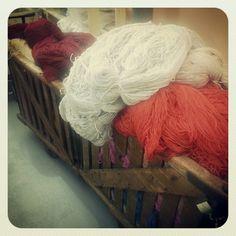 Yarn trolley. Carpet, Museum, Textiles, Home Decor, Decoration Home, Room Decor, Blankets, Fabrics, Home Interior Design
