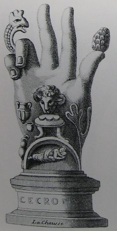 Illustration of the Hand of the Mysteries of Sabazios, now in the public domain.