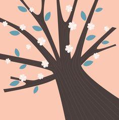 Spring ART tree : Original illustration by RosemaryWellnessShop Borders And Frames, Spring Art, Plant Illustration, Creative Business, Planting Flowers, Digital Art, Etsy Shop, The Originals, Handmade Gifts
