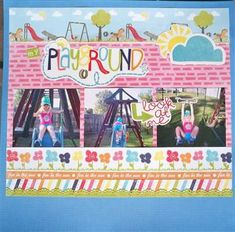 echo park - playground.  I THINK I have this paper in my stash.