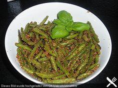 Bohnen grün, mit Bröseln