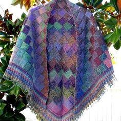 Autumn is a beautiful entrelac shawl with a lacy border - this shawl is a stunner! Free Shipping on USA orders over $75.