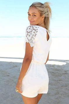 OUTFIT: http://www.glamzelle.com/collections/whats-glam-new-arrivals/products/lace-is-more-white-crochet-onepiece-romper-playsuit