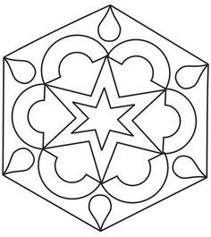 Diwali Craft - Printable Design Patterns | Rangoli design coloring printable Page for kids 2: Rangoli designs ...