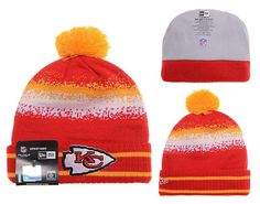 Mens   Womens Kansas City Chiefs New Era 2016 Winter Warm NFL Team Colors  Spec Blend Knit Beanie Hat With Pom - Red   Orange 2e27c5f00d8a