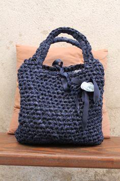 Silvia's bags, crochet bag/borsa in fettuccia di cotone.