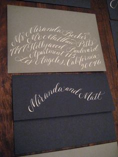 Calligraphy Deposit: Hand Calligraphy Envelope Addressing via Etsy Calligraphy Words, Calligraphy Envelope, Calligraphy Handwriting, Beautiful Calligraphy, Typography Letters, Modern Calligraphy, Creative Lettering, Lettering Design, Wedding Invitation Paper