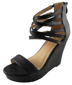 IYNX Womens Ada-1 Wedges with Adjustable Strap * Click on the image for additional details.