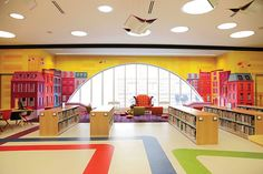 For the Kids Central Library, Boston Public Library The second floor of the Central Library's Johnson Building has been transformed into a kid and teen wonderland awash in natural light and bright colors. The kids' area features new storytime spaces and a tween area, while the teen area is tech-friendly, with a digital lab, a media lounge, and homework and hangout booths. Project: Renovation Architect: William Rawn  Associates, Architects, Inc. Size: 42,245 square feet Cost: $16.1 million