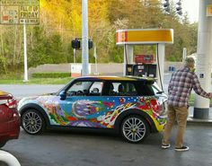 Good Morning Miniacs Its FILL IT UP FRIDAY & we hit the forecourt with a bright, bold n beautiful MINI at the pumps! Have a great day folks