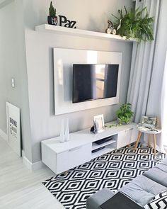 Home Design Decor, Home Room Design, Interior Design Kitchen, Decor Home Living Room, Home And Living, Living Room Tv Unit Designs, Small Apartment Living, House Rooms, Apartment Design