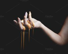 Hand with Dripping Gold Paint by Actions Schmactions on @creativework247