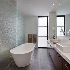 Lovely bathroom with Textured Glass shower screens. #glass #glasssplashbacks #shower #frameless #interior #decor #bathroom #design #renovation #kitchen #architecture #home #homedecor #reno #build #building #bathrooms