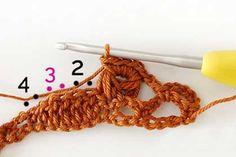 Uzun İlmekli Kabuk Örgü Modeli Sıra 2-4