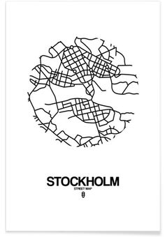 Stockholm - Naxart - Premium Poster