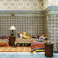 Living Room: Luxe Ethnic: Pattern on Pattern