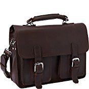Vagabond Traveler 16″ Pro Leather Laptop Briefcase
