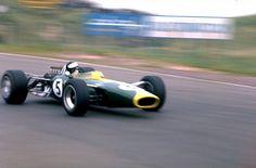 Jim Clark driving for Lotus, Zandvoort 1967 (poetry in motion)