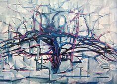 """"""" A arvore"""" de Piet Mondrian, vemos como a arvore está se tornando cada vez mais abstrata, cada vez mais suas principais caracteristica vão desaparecendo."""