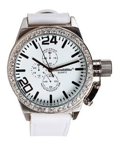 BondiBlu Analogue Watch Diamante White