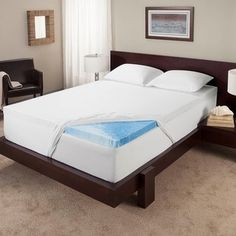 top product reviews for serta 3inch gel memory foam mattress topper overstock - Serta Mattress Topper