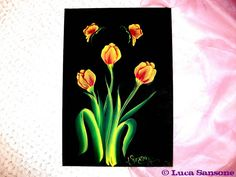 ONE STROKE PAINTING tulipani by Luca Sansone, via Flickr