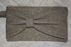 Tweed Bow Clutch. $25.00, via Etsy.