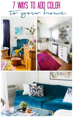 7 Ways to Add Color to your Home this Summer - Creative Juice
