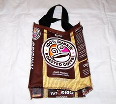 Recycled Coffee Bag Purse or Lunch Bag made by GreenDesignsByLisa, $12.00