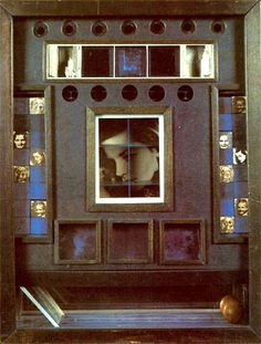 Cornell Box - Lauren Bacall.  Cornell, who lived with his mother on Utopia Parkway in Flushing (Queens, NYC), expressed incredible tenderness in his shadow boxes, which were often themed around movie stars.