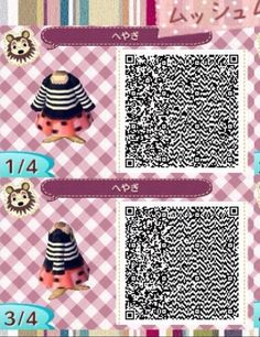 Acnl qr code - stripe and polka dot dress 1