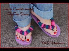 8a6efc037dc How to crochet around Flip-Flop straps