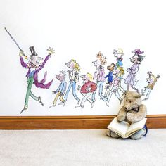 Transform your walls with this splendiferous wall sticker of Willy Wonka, beautifully illustrated by Quentin Blake for Roald Dahl's 'Charlie and the Chocolate Factory'.In early drafts of Charlie and the Chocolate Factory, there were many more Golden Ticket winners, including horrible-sounding children called Elvira Entwhistle and Bertie Upside! Please see our other products for a full selection of matching official Roald Dahl / Quentin Blake wall stickers.Our fantabulous collection of Roald…