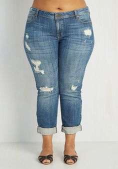 Genuinely Dressed Jeans in Mid Wash – 1X-3X From the Plus Size Fashion Community at www.VintageandCurvy.com
