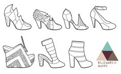 S/S11 Tech drawings Shoe Illustration, Technical Illustration, Williamsburg New York, Great Friends, Lifestyle, Drawings, Blog, Leather, Design