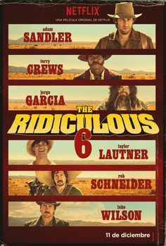 Official The Ridiculous Six Movie Poster - Adam Sandler