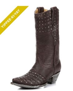 "Women's Reflections Boots by Old Gringo will complete your cowgirl outfit with glamorous effects. Handcrafted boots, the distressed leather upppers have that aged appearance look and showcase metal studs all around the top halves above smooth feet with metal studs.</p>  <p style=""margin: 0in 0in 0pt;"" class=""MsoNoSpacing""><!--?xml:namespace prefix = o ns = ""urn:schemas-microsoft-com:office:office"" ..."