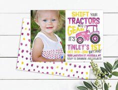 Tractor Photos, Photo Birthday Invitations, Unique Jewelry, Handmade Gifts, Etsy, Tractor Senior Pictures, Kid Craft Gifts, Craft Gifts, Costume Jewelry