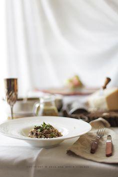 Risotto with porcini mushrooms Recipe Porcini Mushrooms, Stuffed Mushrooms, How To Make Risotto, Risotto Recipes, Mushroom Recipes, 3, Cheese, Drink, Food