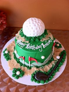 Cupcakes By Cravinley's Golf Cupcakes, Specialty Cakes, Cake Ideas, Birthday Cake, Desserts, Projects, Summer, Food, Tailgate Desserts