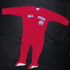 79d53d69e  Carter s Baby Boys 18 Months One Piece Footie Sleeper  PJ s  Football All-