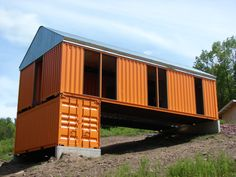 Shipping Container homes by Tim Steele Structures. Livingston Manor, NY