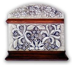 FLORAL CHEST 1 - SIDE.    Embossed chest with with floral motives.  30 x 22 x 20 cm.    See Complete Here: [link]