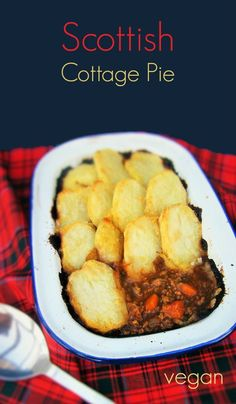 A traditional Scottish recipe for cottage pie but suitable for vegetarians and vegans. It can also be topped with mashed potato or looking further back in history, pastry. www.tinnedtomatoes.com