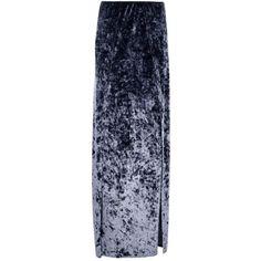 Boohoo Naomi Crushed Velvet Thigh Split Maxi Skirt | Boohoo ($30) ❤ liked on Polyvore featuring skirts, crushed velvet skirt, ankle length skirt, long skirts, elastic waist maxi skirt and blue maxi skirt Ankle Length Skirt, Elastic Waist Skirt, Velvet Skirt, Long Skirts, Blue Maxi, Personal Shopping, Crushed Velvet, Boohoo, Thighs
