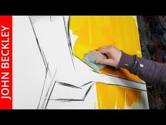 Abstract Painting with palette knife and masking tape | Good Day Sunshine | John Beckley - YouTube