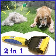 ORIGINAL PROFESSIONAL PetCom 2 in 1 Easy To Clean FUR deShedding Tool minator Grooming Brush Pet Dog Cat combs DE-SHEDDING REMOVE UNDERCOAT HAIR . GOOD DEAL - buy your dogs supplies from dog lovers just like you... « DogSiteWorld-Store