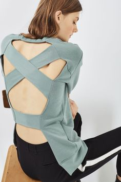 Cross Back Detail Sweat - New In This Week - New In - Topshop Europe