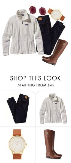 """""""fall y'all"""" by so-preppy ❤ liked on Polyvore featuring American Eagle Outfitters, Patagonia, Kate Spade, Kendra Scott and Tory Burch"""